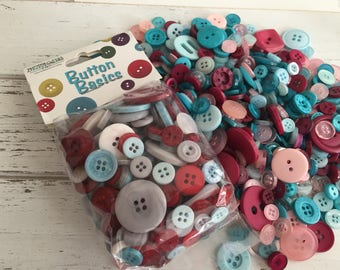 """Mixed Buttons, """"Cool Winter"""" Shades, Packaged Round Button Assortment, 5 oz bag, #BCB131 by Buttons Galore, Sewing, Crafting"""