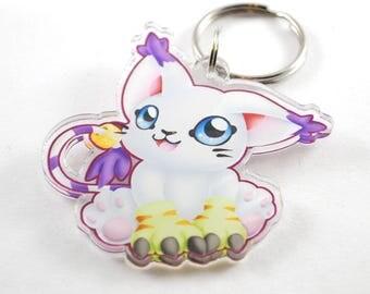 Digimon Chibi Gatomon Keychain