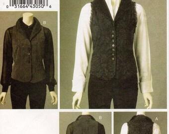 Pick Your Size - Vogue Vest Pattern V8599 by MARCY TILTON - Misses' Semi-Fitting, Unlined Vest in Two Options - Vogue Designer Pattern