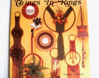Macrame Pattern Book for Rings - Knotted Pattern Book - Retro DIY Wall Hangings to Knot