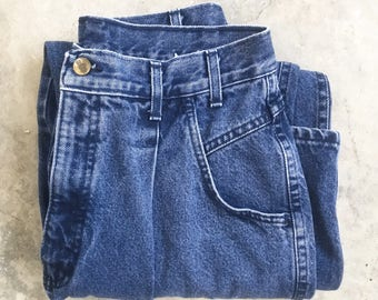 Vintage Women's Pleated Chic Jeans - 28x29 Size 6/8