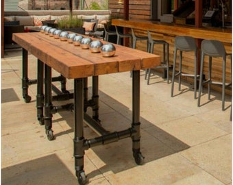 Outdoor Pub Table, Outdoor Table on casters made of 2.5