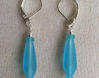 Sea glass earrings, three styles