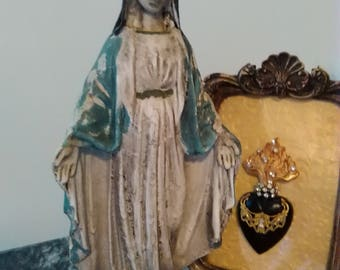 "FREE SHIP! * 12"" Distressed Madonna Virgin Mary Mother of God Religious Statue"