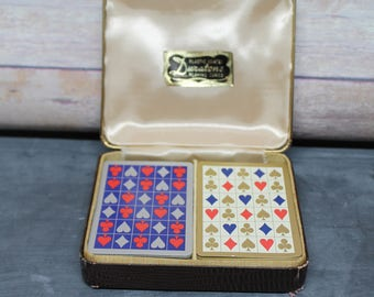 Vintage Plastic Coated Duratone Playing Cards