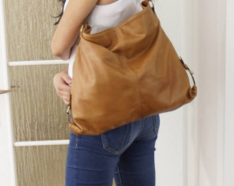 Leather Tote Bag, Leather Handbag, Leather bag, Leather Hobo Bag, Leather Purse, Leather Tote, Leather bag, Leather bag women, tan, Lea!