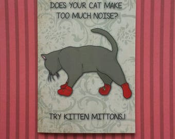 "Charlie Kelly ""Kitten Mittons"" illustrated greetings card - It's Always Sunny"