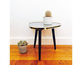Mid Century Formica Guitar Pick Plant Stand / Table