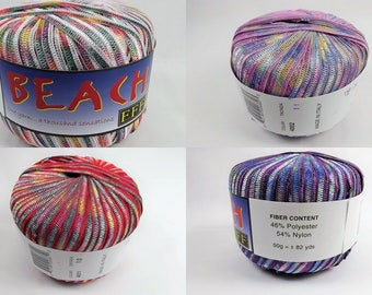 "66% off One Filati FF Beach Ribbon Yarn 82 Yards Bulky 1/4"" Wide Nylon & Poly Select Color"