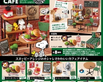 CLAYDOUGH&ME Re-ment Snoopy Vintage Cafe/Rement Snoopy Vintage Cafe/Re-ment Snoopy Old Cafe, with DISPLAY