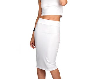 White Leather-Look Turtleneck Crop Top