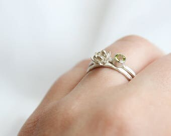 succulent ring, succulent jewellery, floral ring, floral silver ring, plant ring, plant jewellery,gardener jewellery,gardener ring,succulent