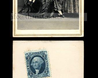 Rare CDV Photo of The Hutchinson Family Singers w Civil War Tax Stamp