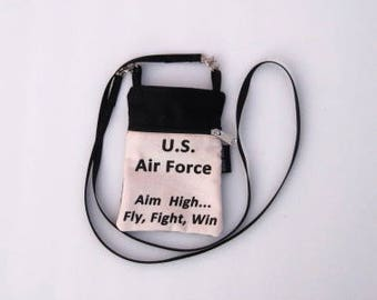 U.S. Air Force Phone Purse or Water Bottle Purse