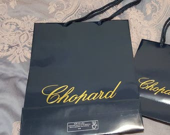 Authentic New Never Used CHOPARD Medium Size Paper Bag, Gift Bag, Carrier with signature logo - 2017 - Small size bag listed separately