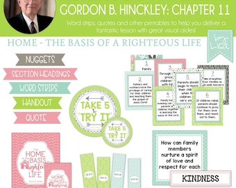 Relief Society Lesson Helps, Gordon B. Hinckley Lesson #11, RS Lesson Aides - Teachings of the Presidents of the Church, PRINTABLE Download