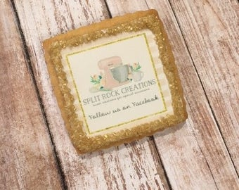 Company Logo Gifts, Corporate Favors, Personalized Company Logo Cookie Favors - 1 Dozen