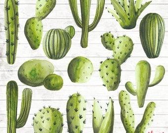 Cactus Clipart Clip Art Commercial Use - Vector Graphic - Cactus Digital Clip Art - Digital Image - Cactus print Download - ACGA19