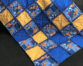 Scooby Doo Baseball Baby Rag Quilt Handmade One Of A Kind Baby Rag Quilt Baby Crib Nursery Shabby Chic Quilt  3