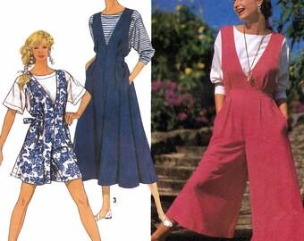 Simplicity 7322 Sewing Pattern for Misses' Jumpsuit, Jumper and Top - Uncut - Size PT, S, M, L, XL