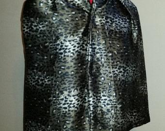 Adult Clothing Protector, Dining Scarf, Shirt Saver - Satin Cheetah or Leopard animal print