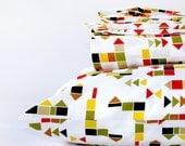 Modern kids bedding - organic duvet cover set - FULL size duvet cover - comforter cover - big boy bedding -  gender neutral duvet cover