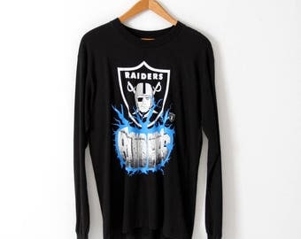 vintage Raiders football t-shirt, 1980s LA Raiders long sleeve tee