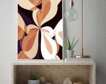 modern mid century, Graphic art, neutral colors, geometric art, decor, modern painting, abstract painting, mid century modern, office art
