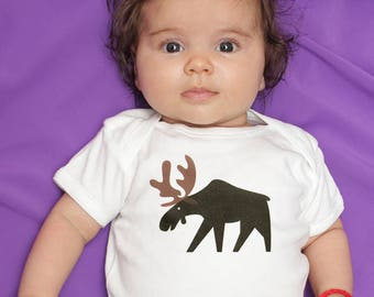 Moose baby boy clothes, baby bodysuit for baby boy, baby shower gift