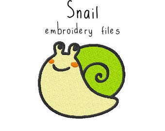 Snail EMBROIDERY MACHINE FILES Instant Download pattern multiple sizes included design pattern digital