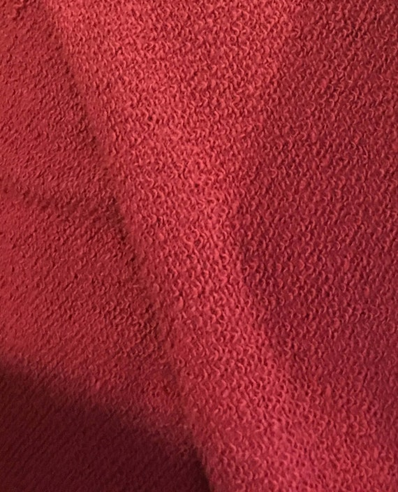 Wine French Terry  Fabric - Per Yard