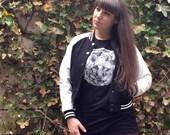 LONE WOLF TEE - Black Cotton Unisex T-Shirt - Wolf Full Moon Shirt - Full Moon Tee - Black Tee - Goth Tee - Black & White - Wolf howling