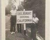 "Vintage Photo ""Hello California"" Snapshot Antique Black & White Photograph Paper Found Ephemera Vernacular Interior Design Mood - 155"