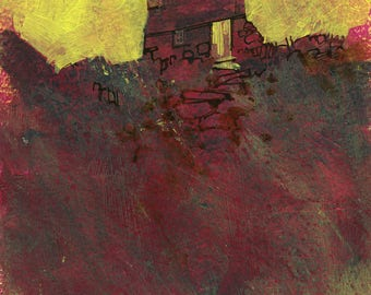 Original moorland cottage painting by Paul Bailey: Ty coch