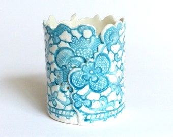 Porcelain tea light lantern