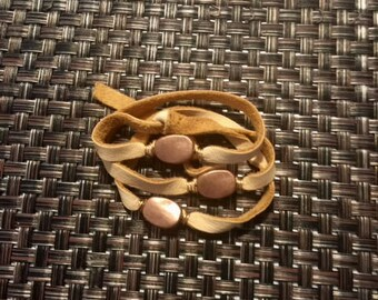 Leather Wrap Copper Bracelet
