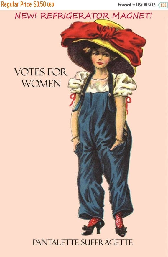 Votes For Women. Suffragette. Fridge Magnets. Nasty Women. Suffragettes. Gifts For Her. Big Hat. Women's March on Washington. Free Shipping.