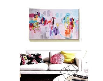 abstract painting multicolor Painting - nice large abstract painting   from Jolina Anthony
