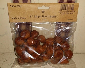 "30 Rusty 1"" Jingle Bells, Crafting, Rusted, Rustic, New, Rusted, Primitive"
