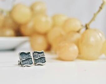 Sterling silver earrings | tiny stud earrings | minimal earrings | minimalist stud earrings| boho earrings | oxidized silver earrings. Gift