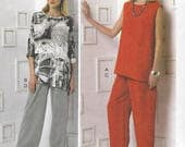 Marcy Tilton Womens Lagenlook Tunic and Pants Tapered Pants No Side Seams Vogue Sewing Pattern V9193 Size 16 18 20 22 24 Bust 38 40 42 44 46