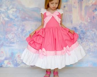 Pink Cinderella Dress with built-in cotton pettiskirt