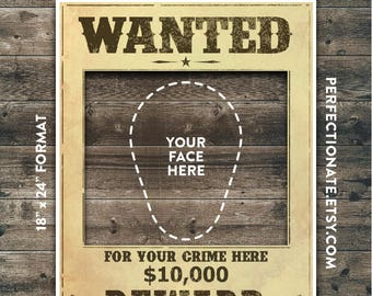 "Wanted Poster Printable 18"" x 24"" 
