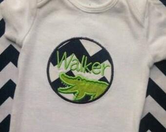Gator Shirt- baby boy, birthday boy, alligator birthday, gators, first birthday