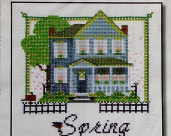 Cross Stitch Pattern   SPRING On CHESTNUT BLVD   Kit & Bixby   Katheryne Bixby   Counted Cross Stitch   Chartpack