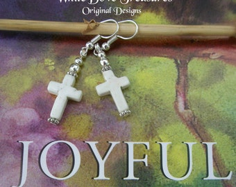 Christian Cross Earrings ~ Southwestern Style ~ Wedding Special Price ~ Gift Box