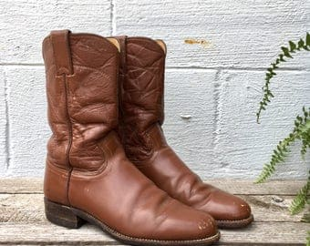 6.5 B | Women's Brown Justin Roper Pull On Boots