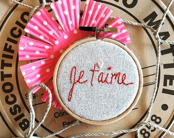 embroidery kit // French Love - valentine embroidery kit - modern embroidery - embroidery kit