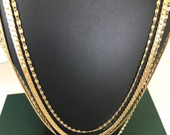 Lovely Monet Vintage Five Layered Swag Chain Necklace
