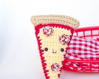 Pepperoni Pizza Crochet Plush Toy